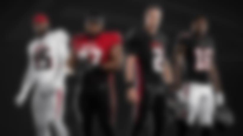 Falcons unveil new uniforms, helmet ahead of 2020
