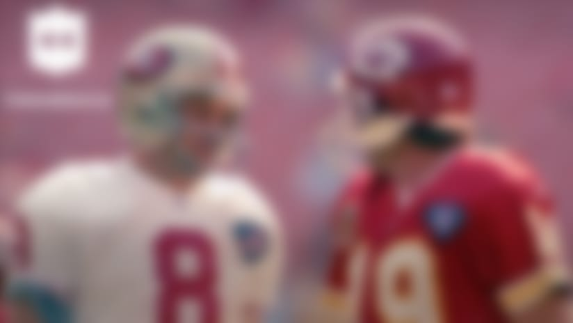 NFL Throwback: Joe Montana faces off against Steve Young in 1994