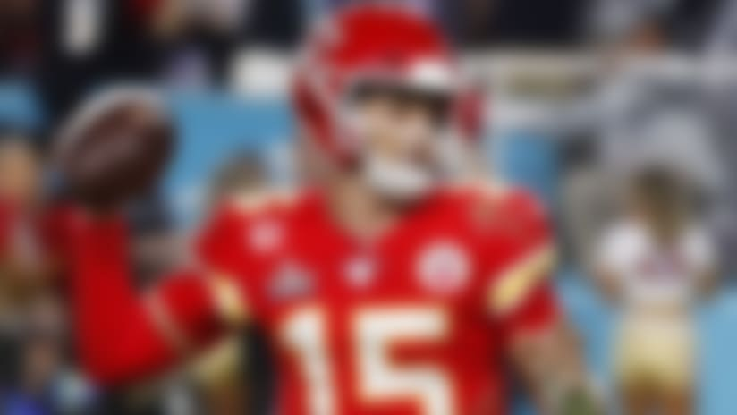 Kansas City Chiefs quarterback Patrick Mahomes (15) throws a pass during the NFL Super Bowl 54 football game against the San Francisco 49ers, Sunday, Feb. 2, 2020, in Miami Gardens, Fla. The Chiefs defeated the 49ers 31-20. (Kevin Terrell via AP)