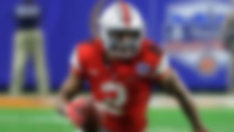 Ohio State running back J.K. Dobbins (2) during the first half of the Fiesta Bowl NCAA college football game against Clemson, Saturday, Dec. 28, 2019, in Glendale, Ariz. (AP Photo/Rick Scuteri).