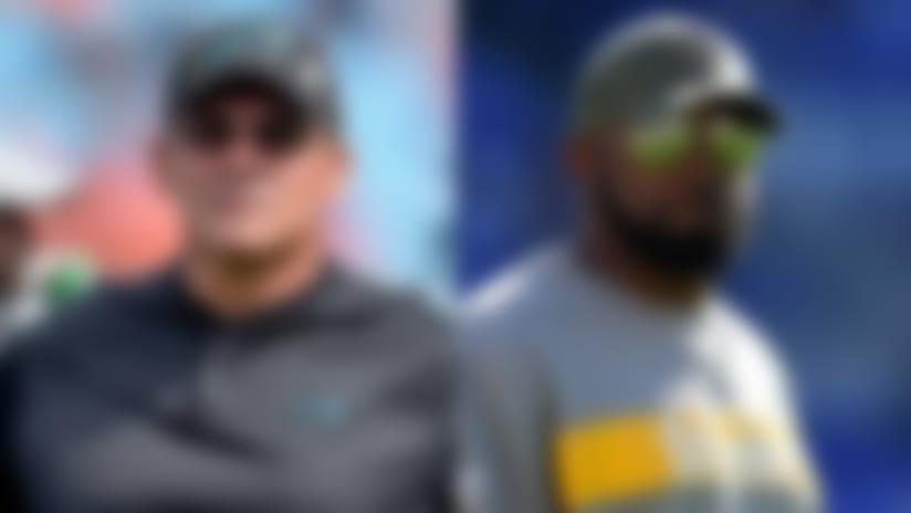 Aditi Kinkhabwala: Pittsburgh Steelers head coach Mike Tomlin gives rave reviews on Carolina Panthers linebackers