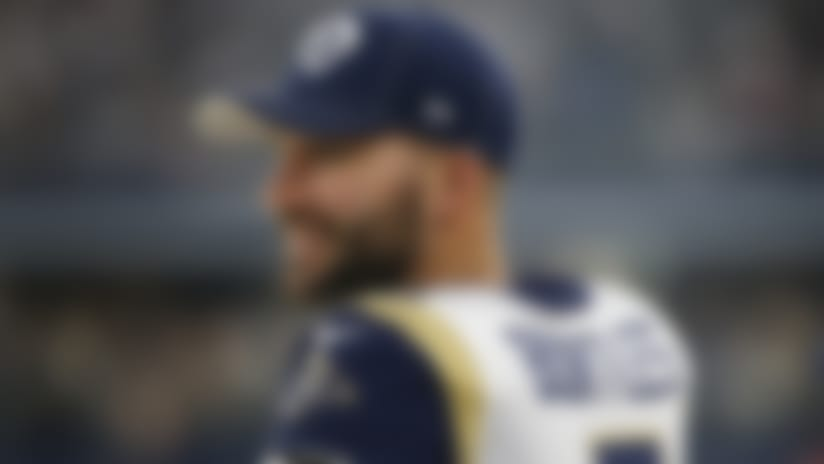 Los Angeles Rams' Blake Bortles (5) during an NFL football game against the Dallas Cowboys in Arlington, Texas, Sunday, Dec. 15, 2019. (AP Photo/Michael Ainsworth)