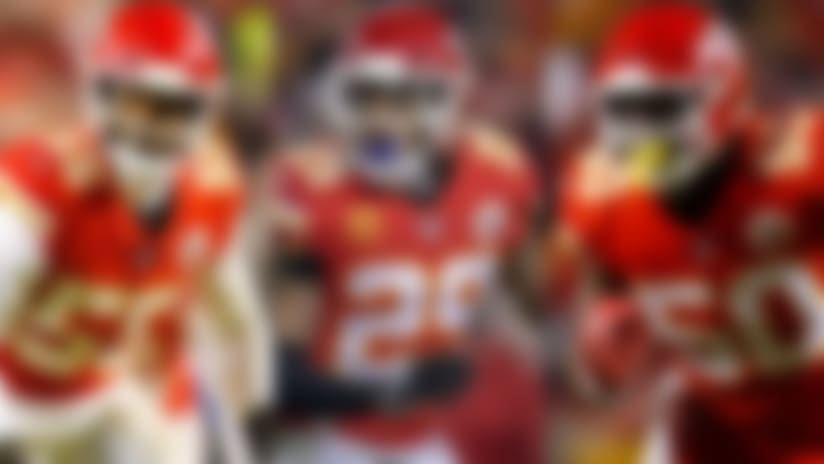 Dee Ford, Eric Berry and Justin Houston