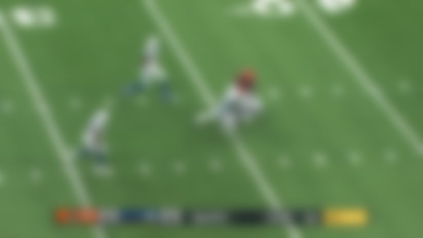 Gilbert climbs the pocket to deliver third-down strike to Montgomery