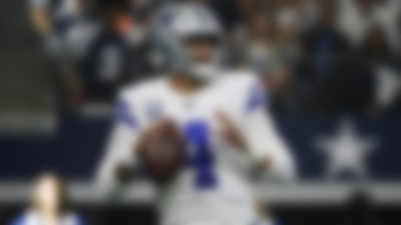 Dallas Cowboys quarterback Dak Prescott (4) throws against the Washington Redskins during the first half of an NFL football game in Arlington, Texas, Sunday, Dec. 15, 2019. (AP Photo/Ron Jenkins)