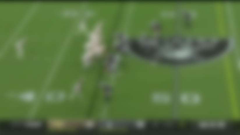Kamara shows excellent vision on winding 21-yard cutback run