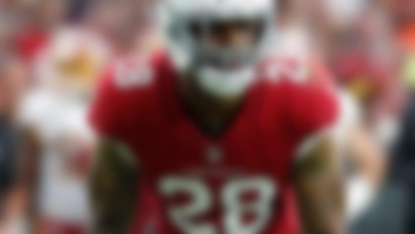 Arizona Cardinals defensive back Jamar Taylor (28) waits for the snap during an NFL football game against the Washington Redskins on Sunday, Sept. 9, 2018 in Glendale, Ariz. (Greg Trott via AP)