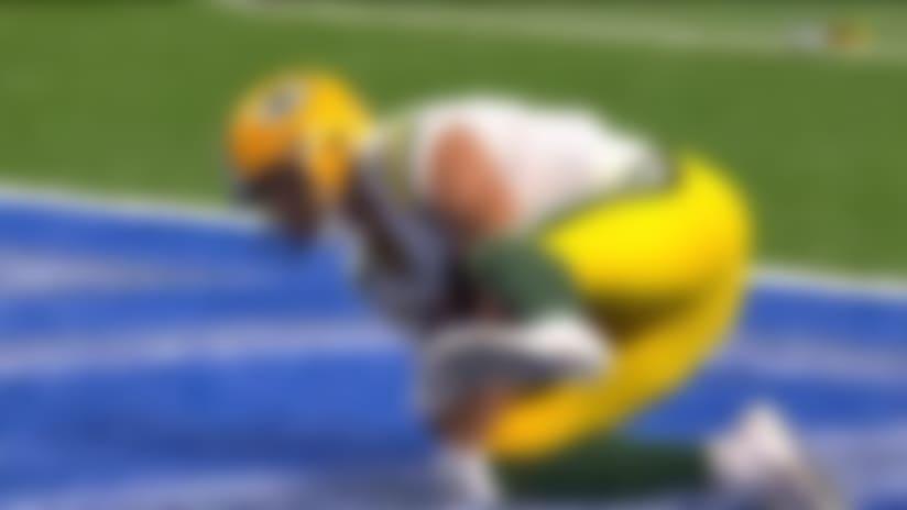 Allen Lazard stretches out for IMPRESSIVE 28-yard TD catch