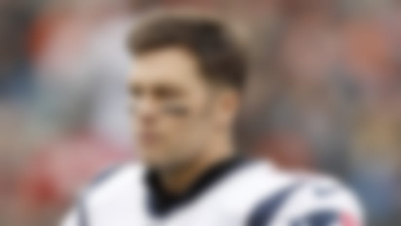 New England Patriots quarterback Tom Brady (12) looks on from the sideline during an NFL football game against the Cincinnati Bengals, Sunday, Dec. 15, 2019 in Cincinnati. The Patriots defeated Bengals 34-13. (Scott Boehm via AP)