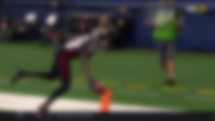 Can't-Miss Play: Ridley tightropes the sideline for impressive TD