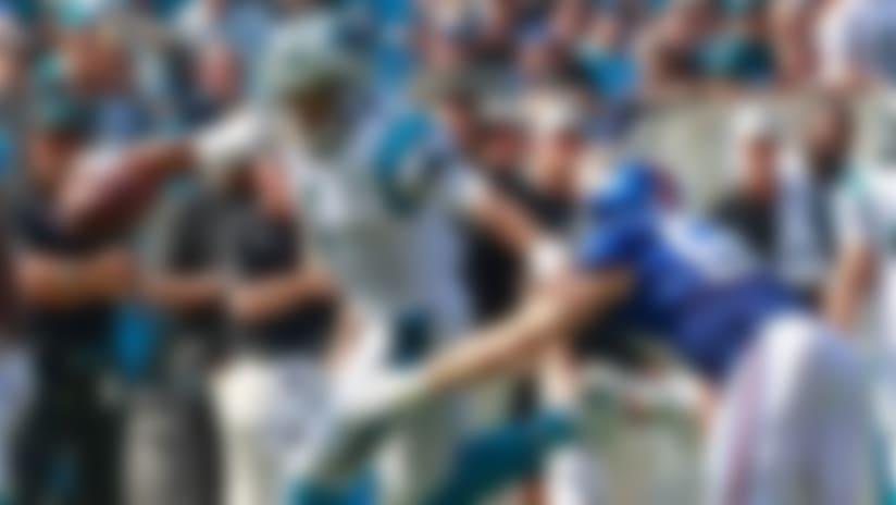Connor Barwin slips through blocks on crucial sack