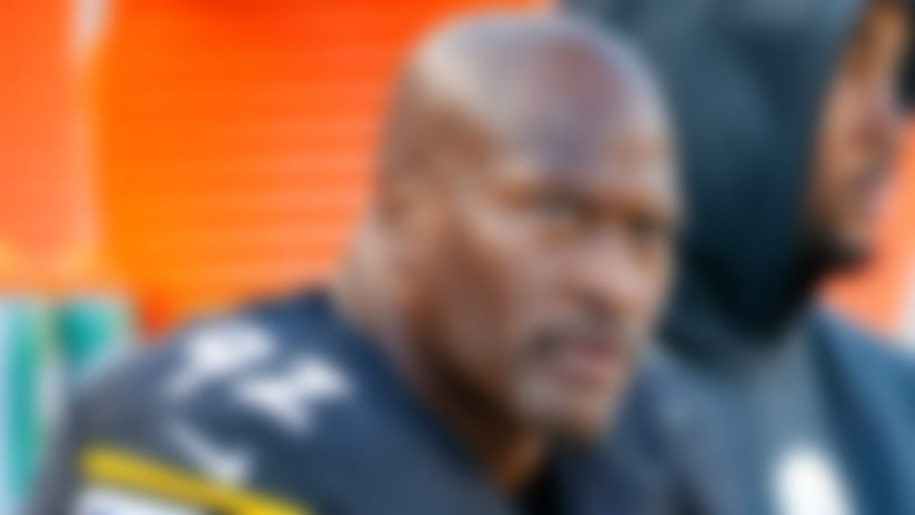 FILE - In this Nov. 8, 2015, file photo, Pittsburgh Steelers outside linebacker James Harrison (92) sits on the sidelines during an NFL football game against the Oakland Raiders, in Pittsburgh. The NFL players' union says Steelers linebacker James Harrison met Thursday, Aug. 25, 2016,  with league investigators looking into allegations linking him to performance-enhancing drugs. (AP Photo/Gene J. Puskar, File)