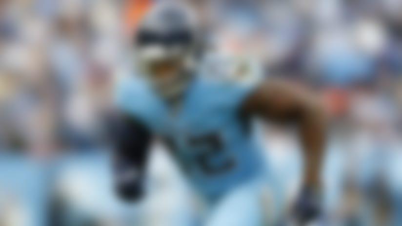 Tennessee Titans running back Derrick Henry (22) runs a pass route during an NFL football game against the Houston Texans, Sunday, Dec. 15, 2019, in Nashville, Tenn. The Texans beat the Titans 24-21. (Matt Patterson via AP)