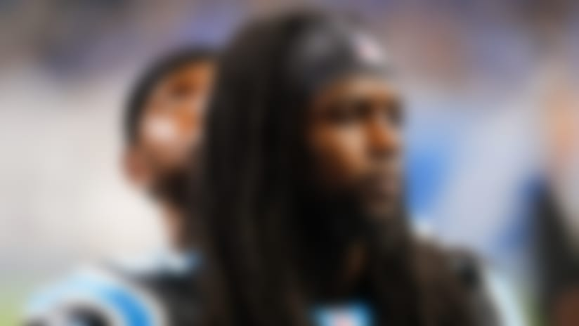 Carolina Panthers cornerback Donte Jackson (26) watches during an NFL football game against the Detroit Lions in Detroit, Sunday, Nov. 18, 2018. (AP Photo/Paul Sancya)