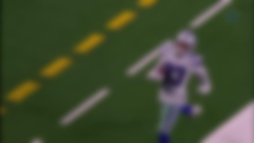 Jalen Guyton slips past defenders on 69-yard touchdown