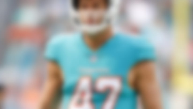 Miami Dolphins linebacker Kiko Alonso (47) during an NFL football game against the New York Jets, Sunday, Nov. 4, 2018, in Miami Gardens, Fla. ( Tom DiPace via AP)