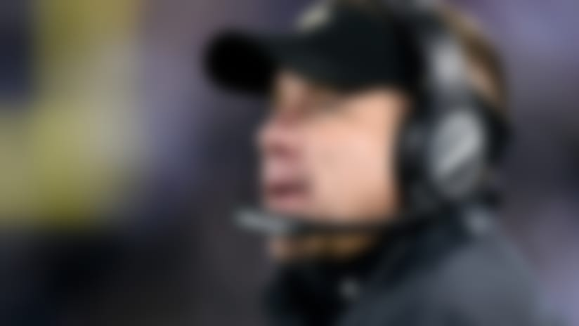 New Orleans Saints head coach Sean Payton stands on the sideline in the second half of an NFL football game against the Baltimore Ravens, Sunday, Oct. 21, 2018, in Baltimore. (AP Photo/Gail Burton)