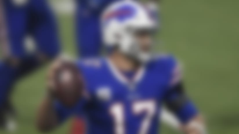 Buffalo Bills quarterback Josh Allen (17) runs with the ball during the first half of an NFL football game against the Kansas City Chiefs, Monday, Oct. 19, 2020, in Orchard Park, N.Y. (AP Photo/Adrian Kraus)