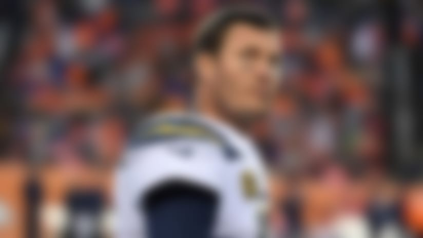 Los Angeles Chargers quarterback Philip Rivers (17) on the sidelines during the third quarter of NFL game against the Denver Broncos, Sunday, December 30, 2018, in Denver. (Eric Bakke via AP)