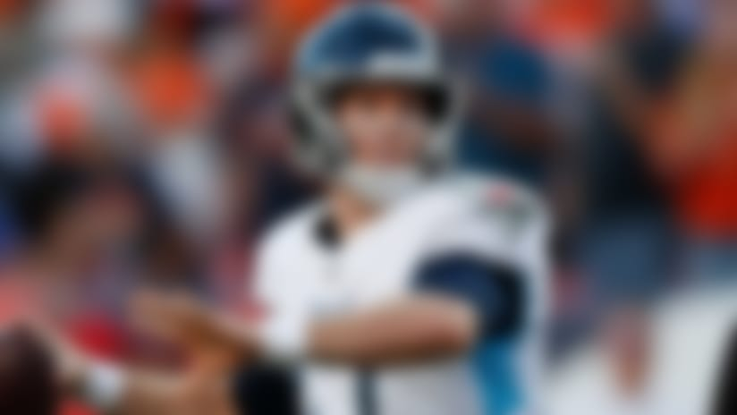 Tennessee Titans quarterback Ryan Tannehill throws a pass during the second half of an NFL football game against the Denver Broncos, Sunday, Oct. 13, 2019, in Denver. (AP Photo/David Zalubowski)