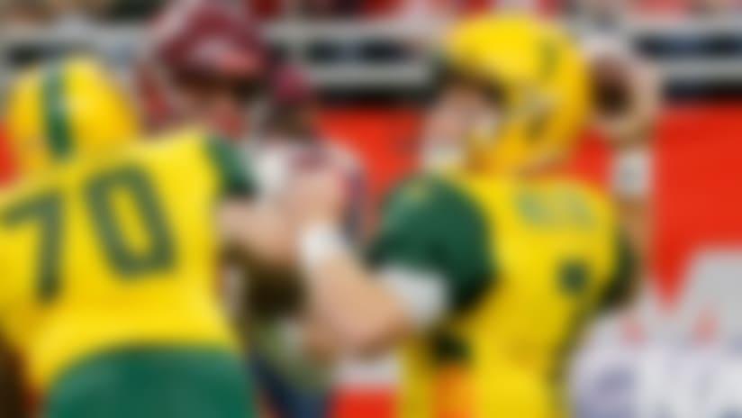 Arizona Hot Shots quarterback John Wolford (7) passes the ball during an Arizona Hotshots at San Antonio Commanders AAF football game, Sunday, March 31, 2019, at the Alamodome in San Antonio. (AP Photo/Chris Covatta)
