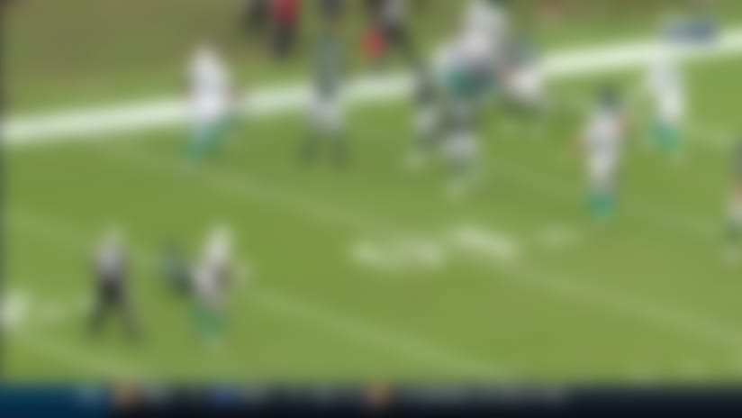 Jomal Wiltz makes Darnold pay for throw into tight coverage with goal-line INT