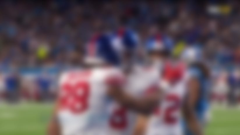 Giants' rub route on the goal line opens up Evan Engram for TD