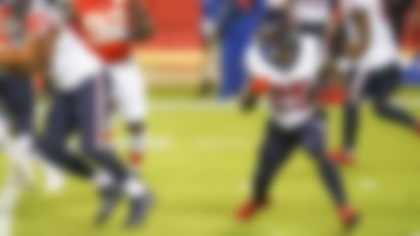 Houston Texans running back Duke Johnson (25) runs the ball during an NFL football game against the Kansas City Chiefs, Thursday, Sep. 10, 2020 in Kansas City, Mo. (Cooper Neill/NFL)