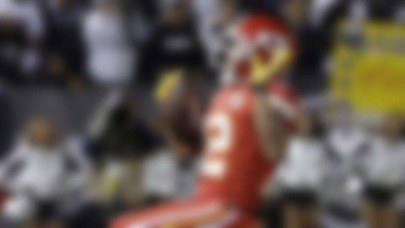 Kansas City Chiefs wide receiver Albert Wilson celebrates.