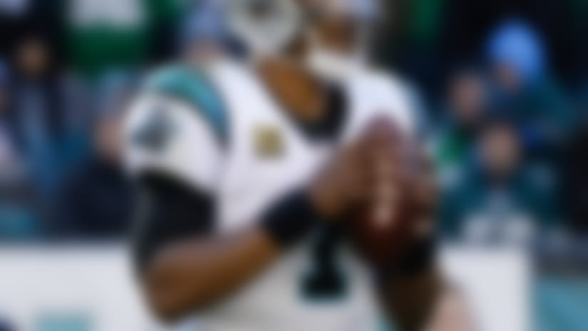 Carolina Panthers quarterback Cam Newton (1) in action during an NFL football game against the Philadelphia Eagles in Philadelphia, Sunday, Oct. 21, 2018. (AP Photo/Matt Rourke)