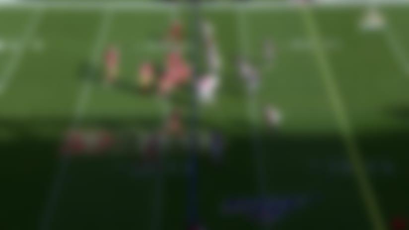 Vic Beasley SWALLOWS Jimmy Garoppolo for sack