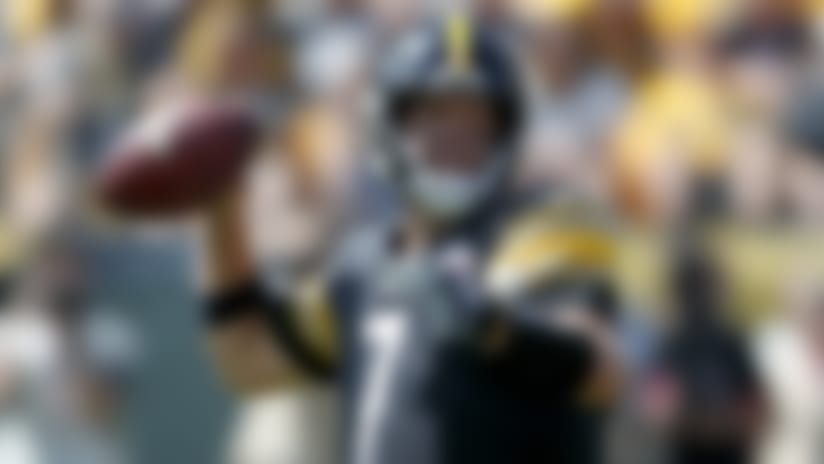 Pittsburgh Steelers quarterback Ben Roethlisberger (7) looks to pass in the first half of an NFL football game against the Seattle Seahawks, Sunday, Sept. 15, 2019, in Pittsburgh. (AP Photo/Don Wright)