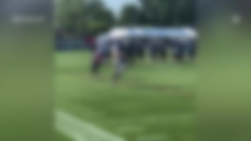 T.J. Hockenson burns Patriots DB in 1-on-1 drill at joint scrimmage