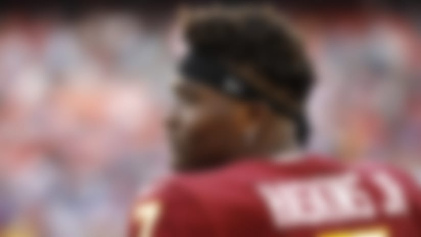 Washington Redskins quarterback Dwayne Haskins looks on from the sideline during the second half of an NFL football game against the New York Giants, Sunday, Dec. 22, 2019, in Landover, Md. (AP Photo/Patrick Semansky)