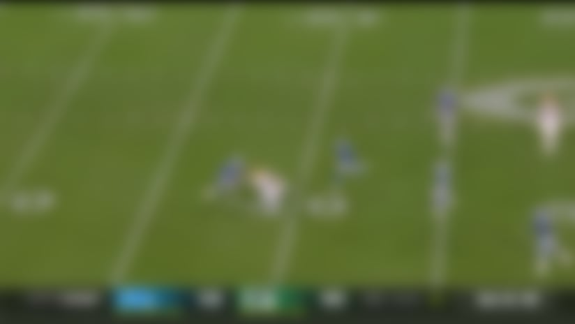Rodgers slings laser to sliding Marcedes Lewis for 25 yards