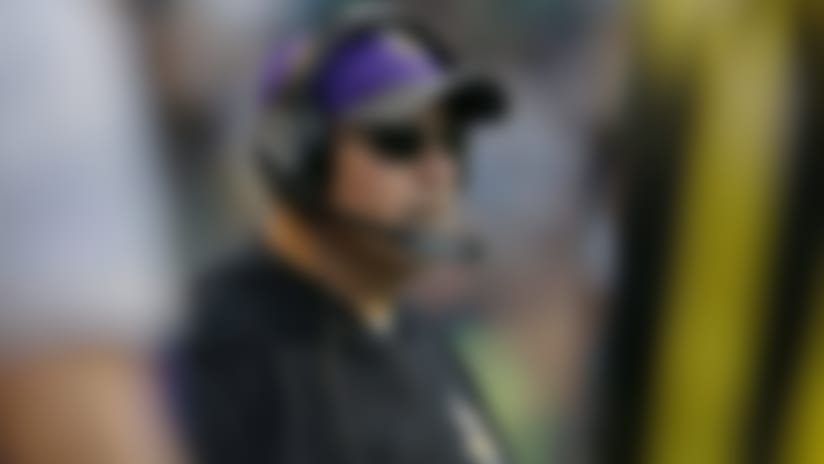 Minnesota Vikings offensive line coach  Tony Sparano stands on the sideline during a preseason NFL football game against the Seattle Seahawks, Thursday, Aug. 18, 2016, in Seattle. (AP Photo/John Froschauer)