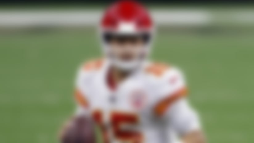 Kansas City Chiefs quarterback Patrick Mahomes (15) during an NFL football game against the New Orleans Saints, Sunday, Dec. 20, 2020, in New Orleans. (AP Photo/Tyler Kaufman)