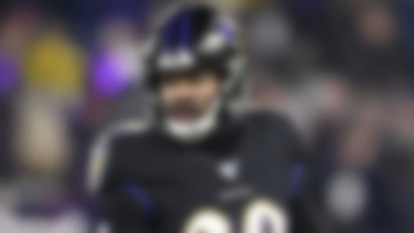 Baltimore Ravens free safety Earl Thomas (29) stands on the field during the first half of an NFL football game against the New York Jets, Thursday, Dec. 12, 2019, in Baltimore. (AP Photo/Nick Wass)
