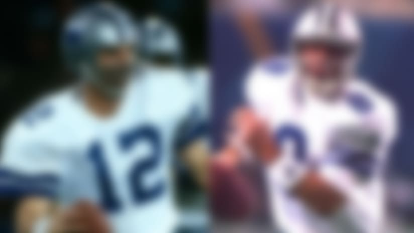 Roger Staubach and Troy Aikman