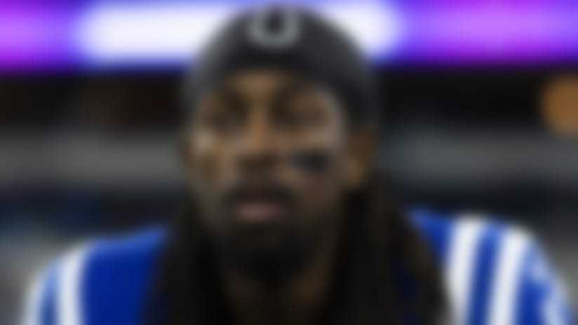 Indianapolis Colts wide receiver T.Y. Hilton (13) before an NFL regular season football game against the Carolina Panthers on Saturday, Dec. 21, 2019 in Indianapolis. The Colts won, 38-6. (Ric Tapia via AP)