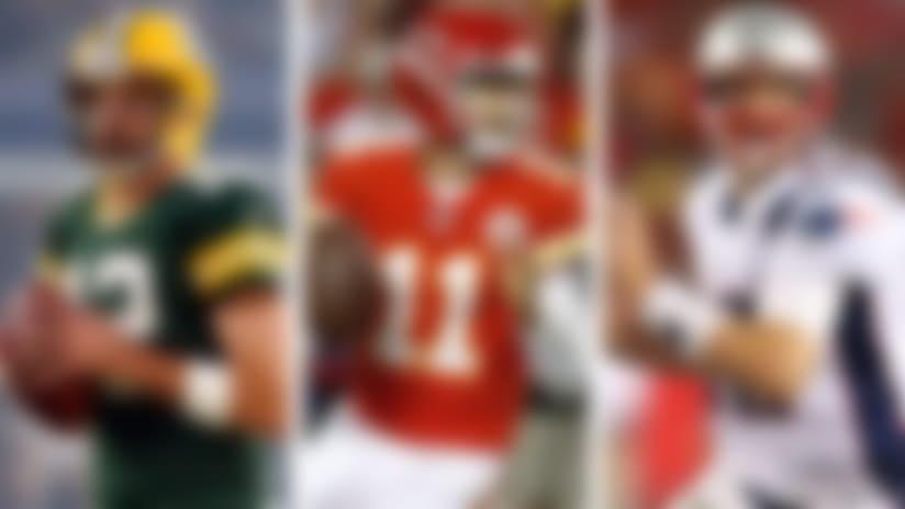 Aaron Rodgers, Alex Smith and Tom Brady