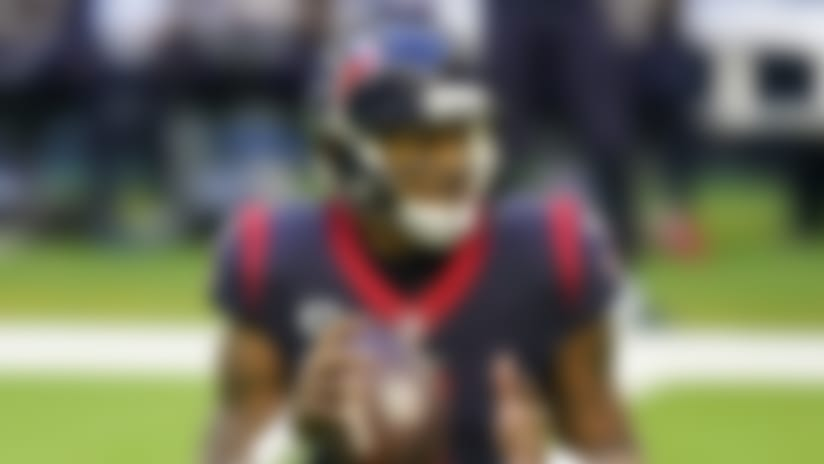 Houston Texans quarterback Deshaun Watson (4) looks to pass during an NFL football game against the Tennessee Titans, Sunday, Jan. 3, 2021, in Houston. (AP Photo/Matt Patterson)