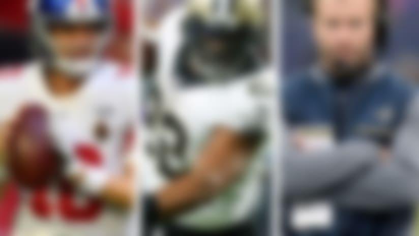 Eli Manning, Mark Ingram and Sean McVay