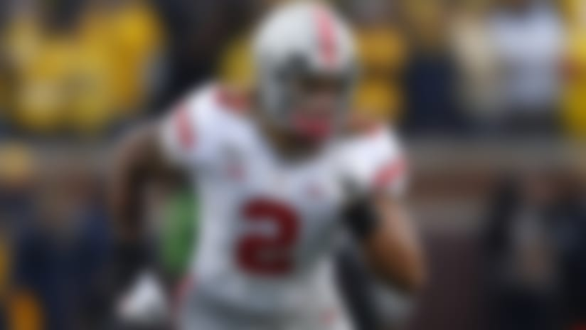 Ohio State defensive end Chase Young in the second half of an NCAA college football game in Ann Arbor, Mich., Saturday, Nov. 30, 2019. (AP Photo/Paul Sancya)