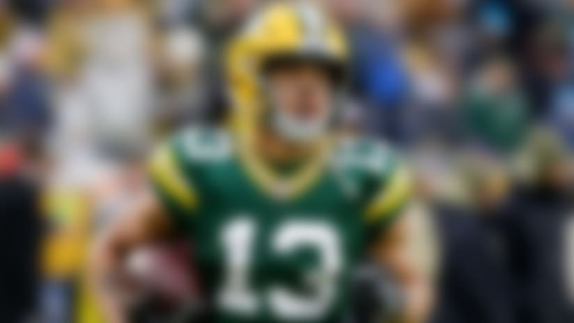 Green Bay Packers' Allen Lazard is seen before an NFL football game against the Carolina Panthers Sunday, Nov. 10, 2019, in Green Bay, Wis. (AP Photo/Mike Roemer)