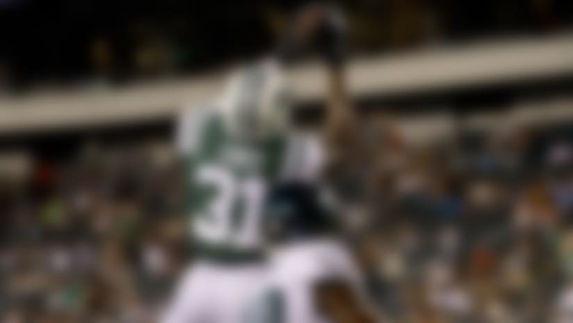 Derrick Jones picks off Callahan's pass in the end zone