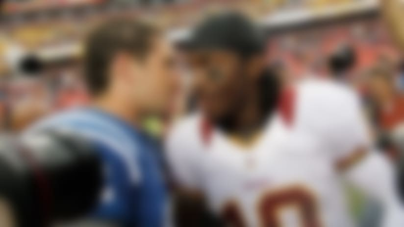 Can Robert Griffin III keep pace with Andrew Luck, rookie QBs?