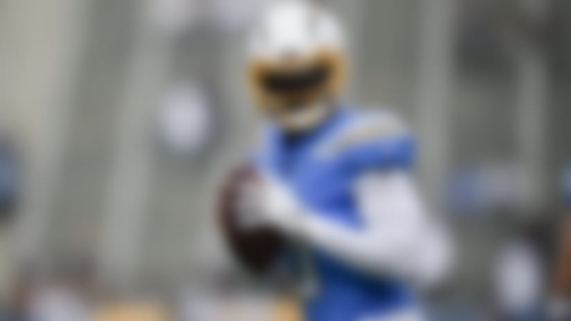 Los Angeles Chargers quarterback Tyrod Taylor warms up before an NFL football game against the Oakland Raiders in Carson, Calif., Sunday, Dec. 22, 2019. (AP Photo/Kelvin Kuo)