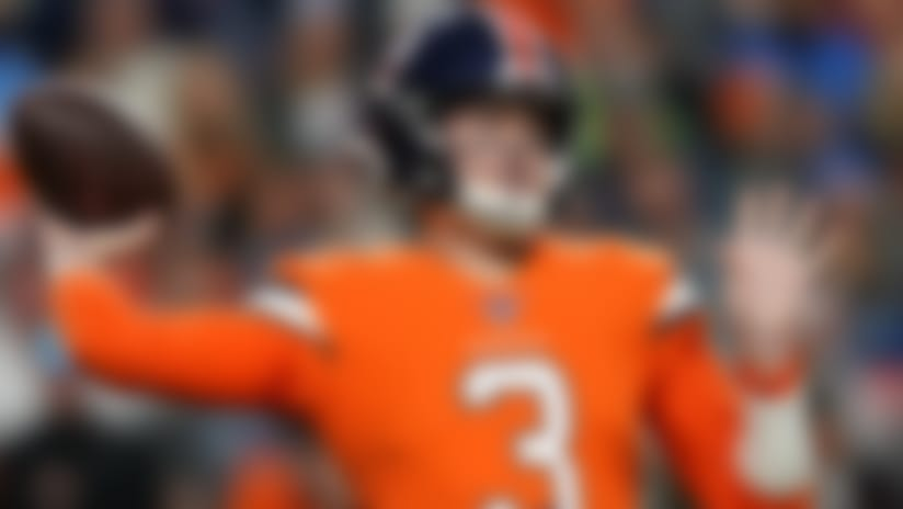Denver Broncos quarterback Drew Lock (3) throws against the Detroit Lions during the second half of an NFL football game, Sunday, Dec. 22, 2019, in Denver. (AP Photo/Jack Dempsey)