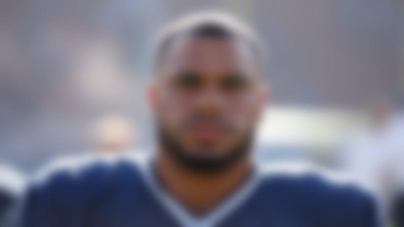Dallas Cowboys quarterback Dak Prescott #4 before an NFL preseason football game against the Los Angeles Rams on Saturday, Aug. 12, 2017 in Los Angeles. (Ric Tapia/NFL)